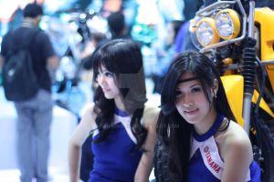 Yamaha booth babes! by FabreNotil