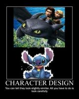 Stitch and Toothless by BenJJedi