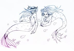 Mermaids by Witequeen