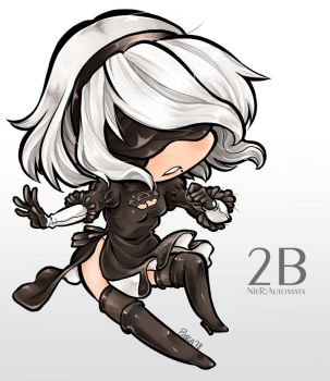 2B or not Chibi by ParaParano