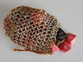Copper and Brass Dice Bag by XofHope