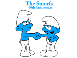 The Smurfs - 60th Anniversary by MarcosPower1996