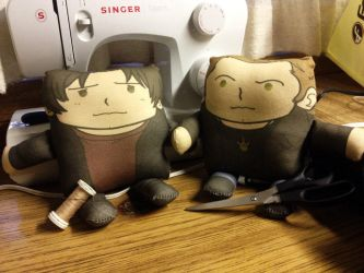 SPN Winchester Bros Pillow Plushies by amasugiru