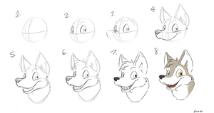 Basic Canine Head Tutorial by Count-Gravimeter