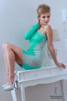 Anna in the green dress 5 by PhotographyThomasKru
