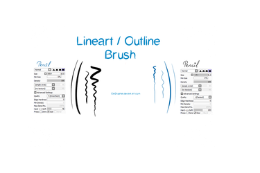 Paint Tool Sai - Lineart/Outline Brush by CatBrushes