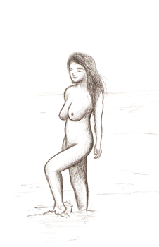Wading Nude by BillyTwo