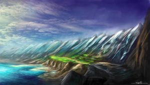 Mountains sketch by FelFortune