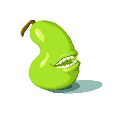 Biting Pear by teragram98
