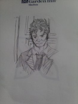 10th Doctor Sketch by kyoshiroelric