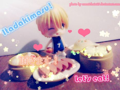 Kise Ryouta With food by AsamiChain17
