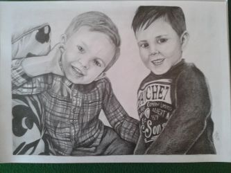 Portrait of two brothers by davidsteeleartworks