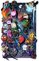 Ocarina of Adventure Time - Collab w Mike Vasquez by JoeHoganArt
