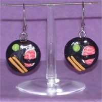 Sushi earrings by Silatham