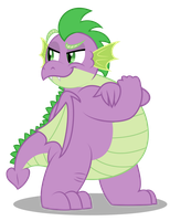 Grown up Spike - Well well well by AleximusPrime