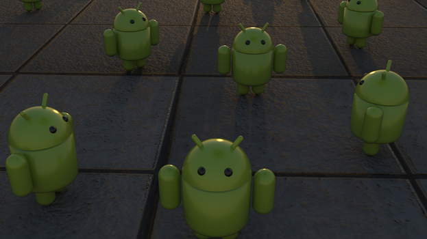 Android robot wallpaper by jaruworks