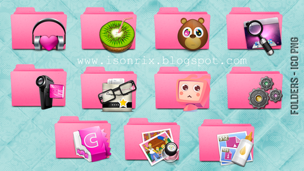Folders pink icons by a-Sonrix