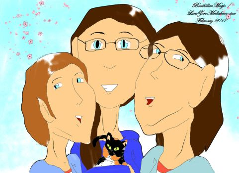 Selfportrait with my sisters by LucaZoroMedicham-san