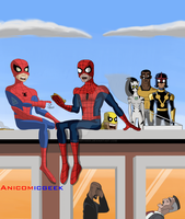 Spider-Man Meets Spider-Man by Anicomicgeek