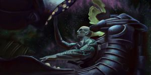 Prometheus Space Jockey by doiron12