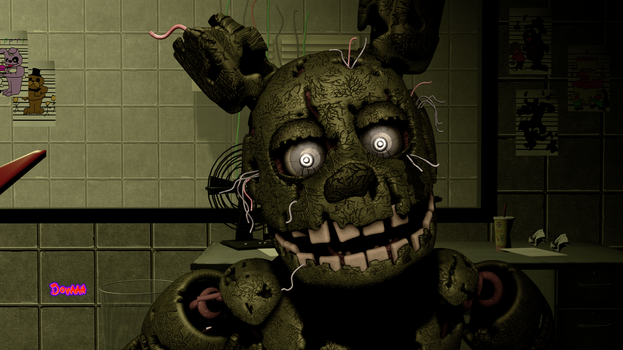 Springtrap Jumpscare by Dovaah