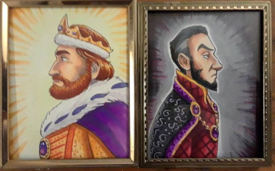 King Richard and Prince John by chill13