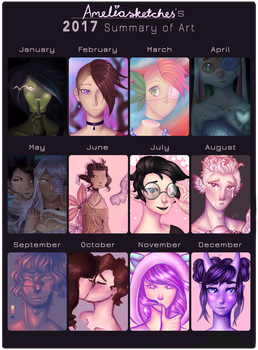 2017 Summary Of Art by Ameliasketches