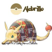 Armadillo pokemon - 5th gen by farreer