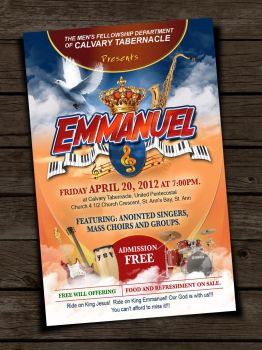 Emmanuel Gospel Concert Flyer by owdesigns