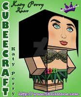 Katy Perry 3D cubeecraft by SKGaleana by SKGaleana