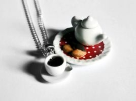 Food Necklace Polka Dot Doily by Alusaf