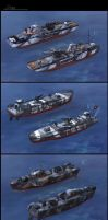 some boats by JimHatama