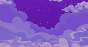 Cloudy Night Sky Background by JodeTheJester