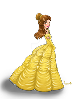 Beauty and the Beast - Belle fanart by acchanchibi