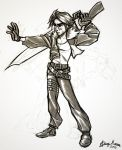 Sketch about Squall by Sommum