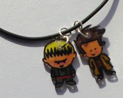 Cute Doctor n Master pendants by Lovelyruthie