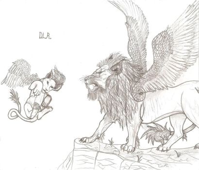 Winged Lions by Shadowfox012