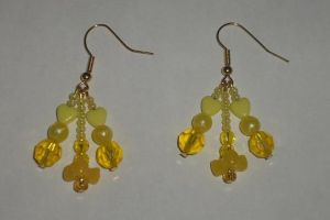 Yellow Earrings 2 by Rad1986