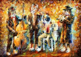 Musical Cats by Leonid Afremov by Leonidafremov