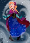 Disney Frozen-Anna by pixonsalvaje