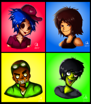 THE GANG IS HERE : Gorillaz by RaHmADiTa2219