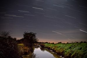 Star Trails in Minster by AstarothSquirrel