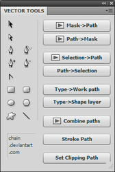 Panel: Vector tools by chain