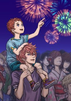 Free! - fireworks. by MadH