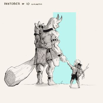 Inktober 2017 - Day 10 - Gigantic by Keynok
