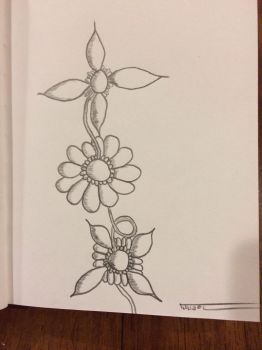 Flower sketch by PorterLee