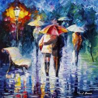 The Blue Rain by Leonid Afremov by Leonidafremov