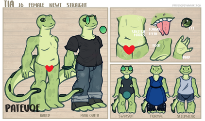 [MAIN SONA REF 3.0] Tia The Newt by pateuqe