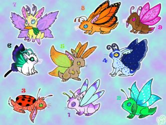Adoptable Fairy Bunnies -CLOSED- by Electric-Mongoose