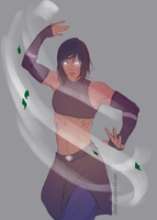 Warm up_Korra by plastic-pipes